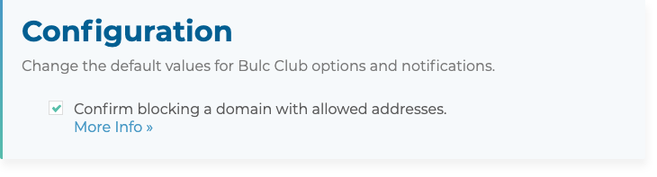 Confirm blocking a domain with allowed addresses?
