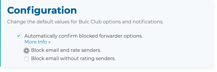 Automatically confirm blocked forwarder options