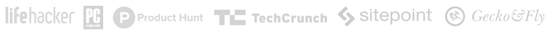 Bulc Club is recognized by: Lifehacker, Product Hunt, TechCrunch, Sitepoint, Gecko&Fly, and more...